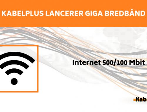 Lancering af GIGA bredbånd
