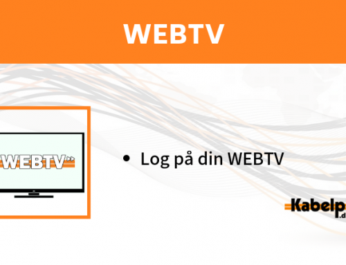 Log på din WEBTV