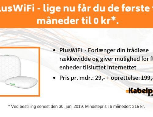 PlusWiFi – lige nu får du de første to måneder til 0 kr
